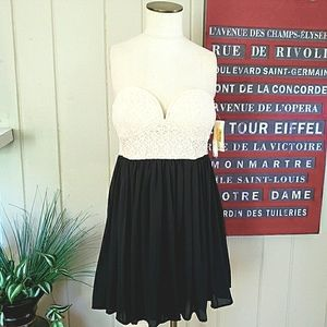 NEW Coveted Clothing   L sweetheart dress lace